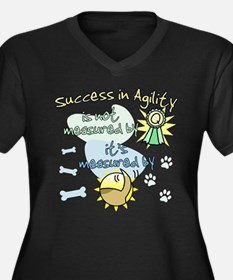 Success in Agility Women's Plus Size V-Neck Dark T