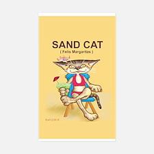Sand Cat (Felis Margaritas) Rectangle Decal