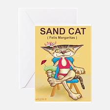Sand Cat (Felis Margaritas) Greeting Card
