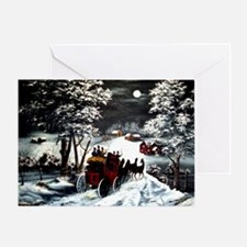 Winter Carriage Ride Greeting Card
