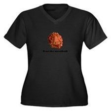 Cute Meatball Women's Plus Size V-Neck Dark T-Shirt
