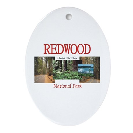 Redwood Americasbesthistory.com Ornament (Oval)