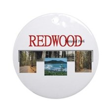 Redwood Americasbesthistory.com Round Ornament