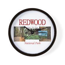 Redwood Americasbesthistory.com Wall Clock