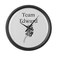 """Team Edward"" Large Wall Clock"