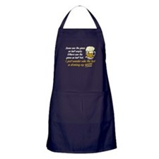 Half Empty Beer Apron (dark)