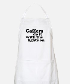 Gaffers do it with the lights BBQ Apron