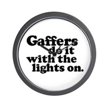Gaffers do it with the lights Wall Clock