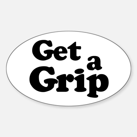Get a Grip Oval Decal
