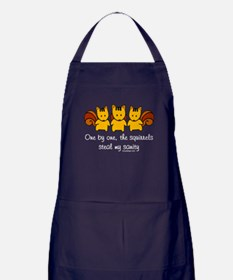 One by one, the squirrels Apron (dark)
