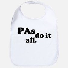 PAs do it all. Bib