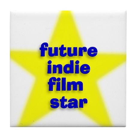 Future Indie Film Star Tile Coaster