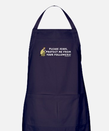 Please Jesus, protect me from Apron (dark)