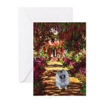 The Path - Keeshond (F) Greeting Cards (Pk of 20)