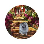 The Path - Keeshond (F) Ornament (Round)