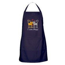 I Love Meew! Apron (dark)