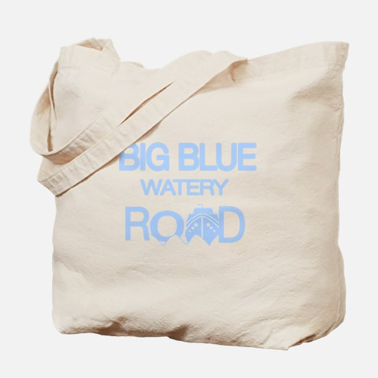 Unique Big blue Tote Bag