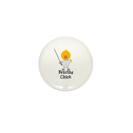 Fencing Chick Mini Button (10 pack)