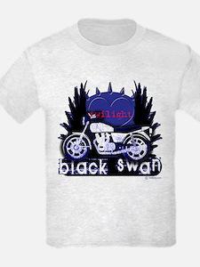 Black Swan Motorcycles Twilight Blue T-Shirt