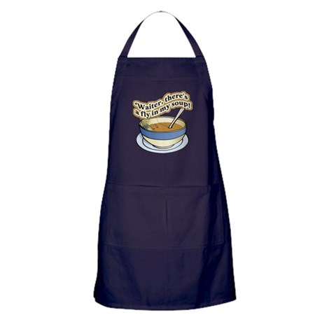 Fly In My Soup Apron (dark)