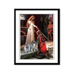 Accolade - Two Keeshonds Framed Panel Print