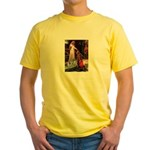 Accolade - Two Keeshonds Yellow T-Shirt