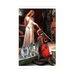 Accolade - Two Keeshonds Rectangle Sticker 50 pk)