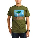 Bassoon Beach - Organic Men's T-Shirt (dark)