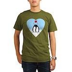Loving Penguins Organic Men's T-Shirt (dark)