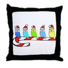 Budgies- Christmas Throw Pillow