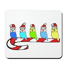 Budgies- Christmas Mousepad