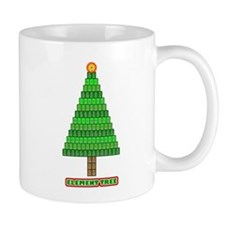 Element Tree black and white Small Mug