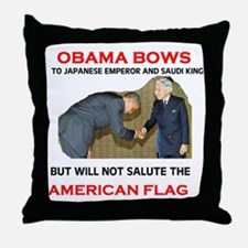 BOWS TO EVERTHING BUT OUR FLA Throw Pillow