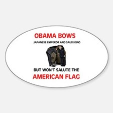 BOWS TO EVERTHING BUT OUR FLA Oval Decal