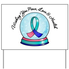 Snowglobe Thyroid Cancer Yard Sign