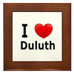 I Love Duluth Framed Tile