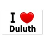 I Love Duluth Rectangle Sticker 50 pk)