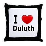 I Love Duluth Throw Pillow