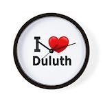 I Love Duluth Wall Clock