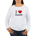 I Love Duluth Women's Long Sleeve T-Shirt