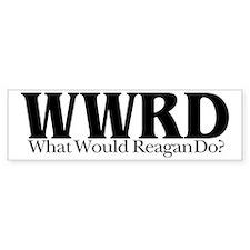 WWRD What Would Reagan Do Bumper Bumper Sticker
