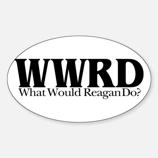 WWRD What Would Reagan Do Oval Decal