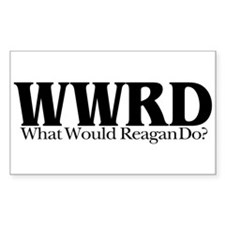 WWRD What Would Reagan Do Rectangle Decal