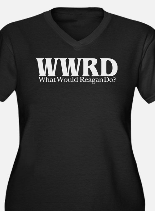 WWRD What Would Reagan Do Women's Plus Size V-Neck