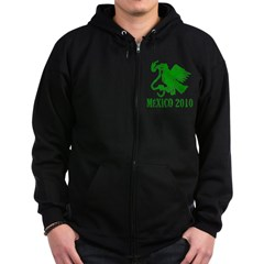 Mexico - Eagle - Green Zip Hoodie