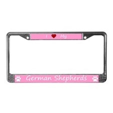 Pink I Love My German Shepherds Frame