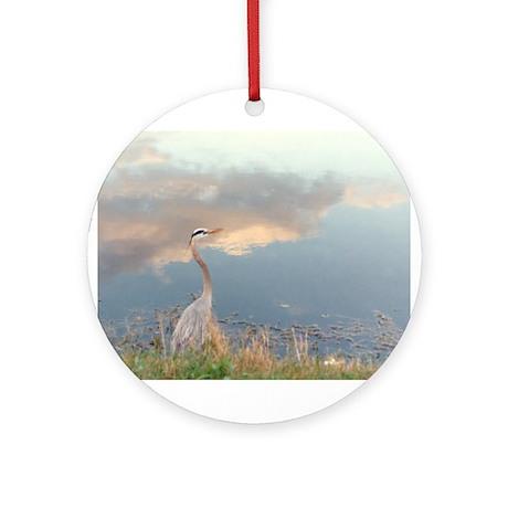 """""""Bird Reflection"""" Ornament (Round)"""