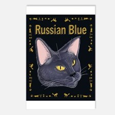 FPG Russian Blue Cat - Postcards (Package of 8)