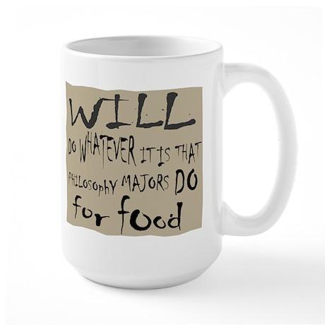 Homeless Philosopy Major Large Mug