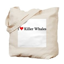 I Love Killer Whales Tote Bag